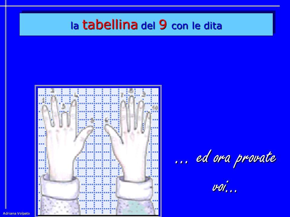 la tabellina del 9 con le dita