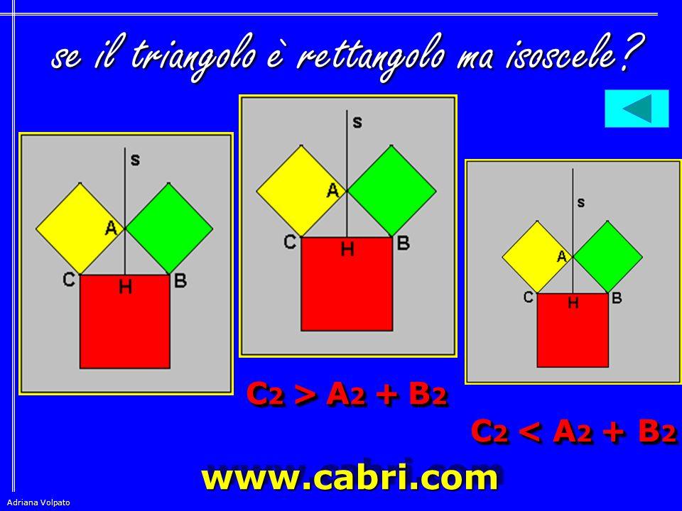 se il triangolo è rettangolo ma isoscele