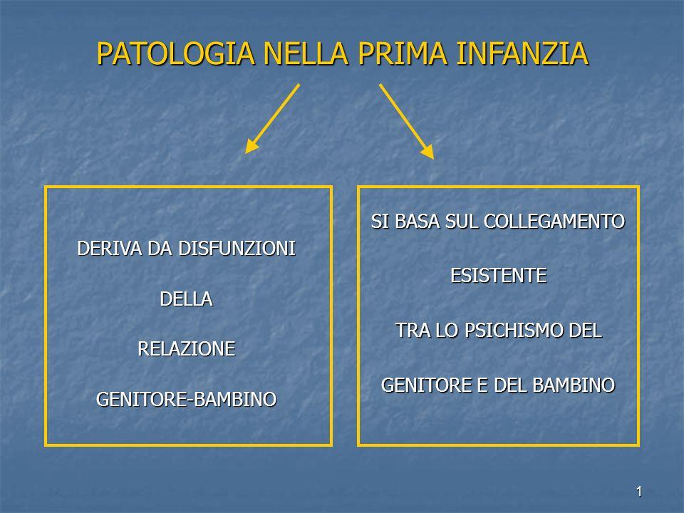 PATOLOGIA NELLA PRIMA INFANZIA