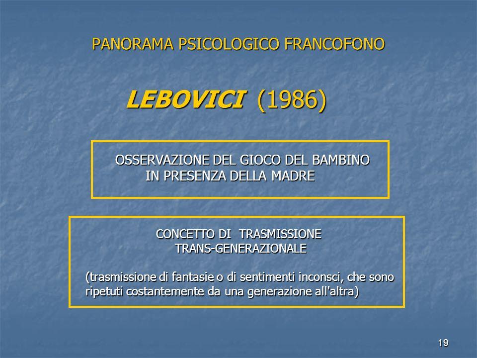 PANORAMA PSICOLOGICO FRANCOFONO