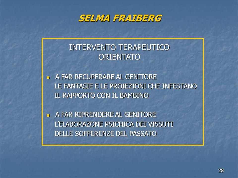 SELMA FRAIBERG INTERVENTO TERAPEUTICO ORIENTATO
