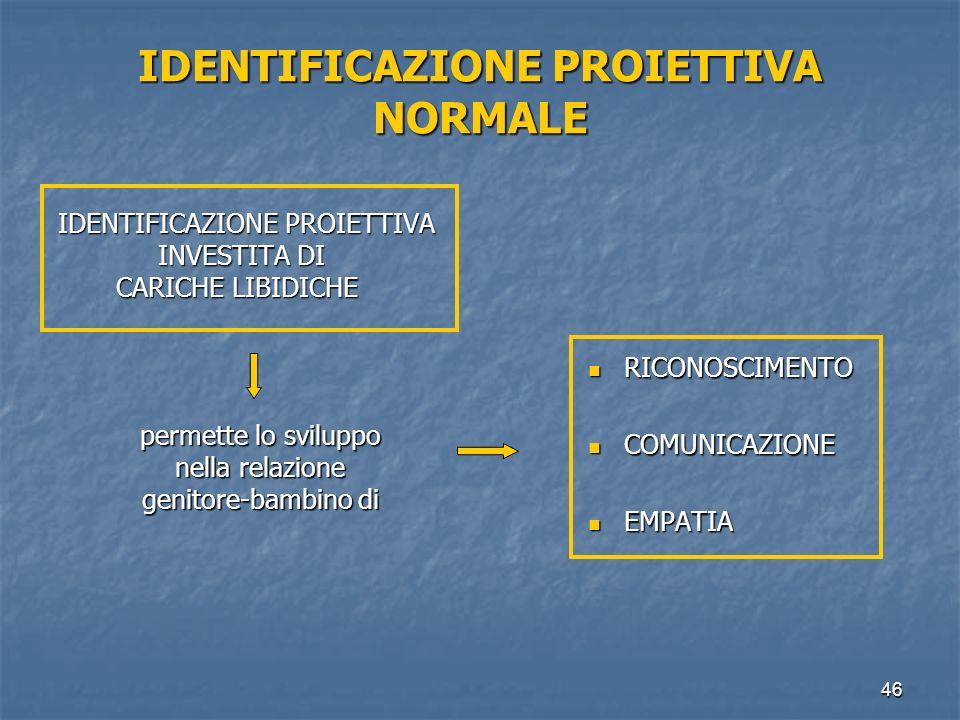 IDENTIFICAZIONE PROIETTIVA NORMALE