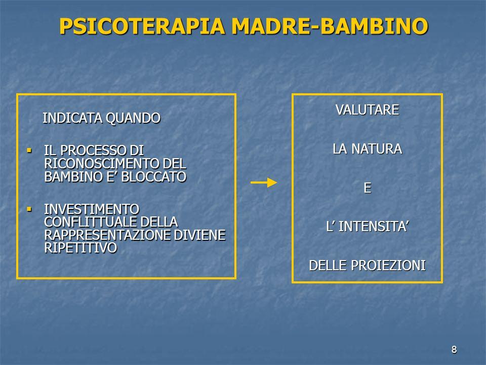PSICOTERAPIA MADRE-BAMBINO