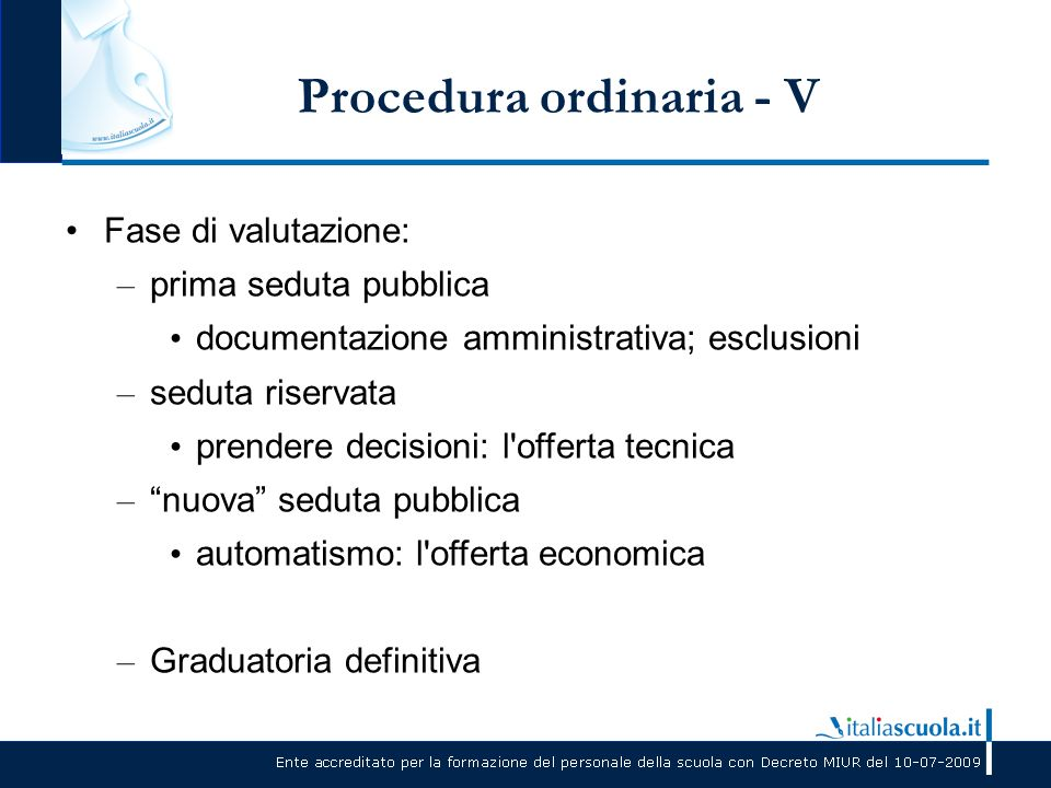 Procedura ordinaria - V