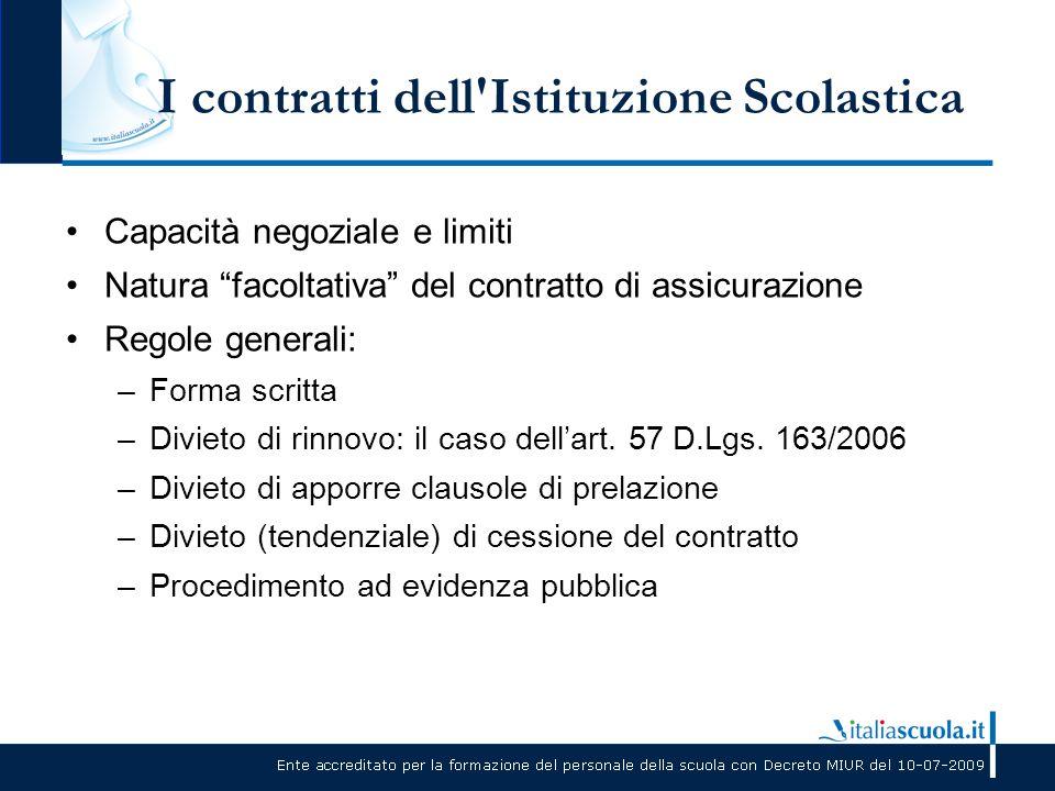 I contratti dell Istituzione Scolastica