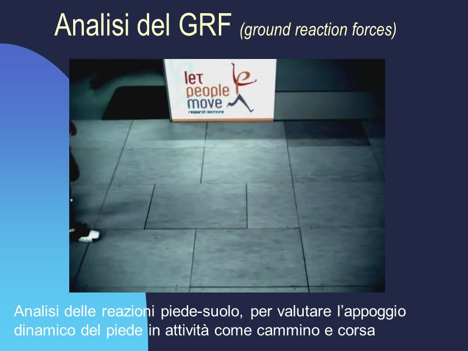 Analisi del GRF (ground reaction forces)