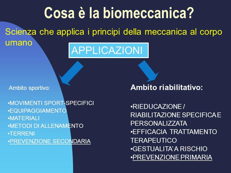 Cosa è la biomeccanica APPLICAZIONI