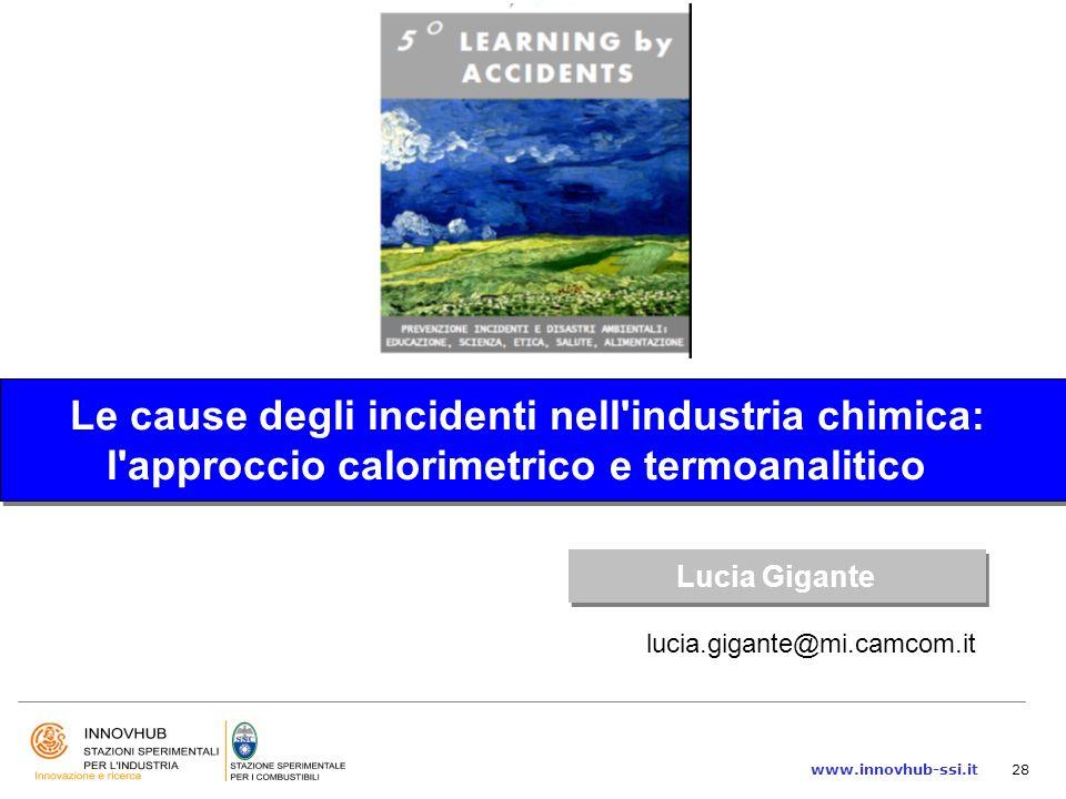 Le cause degli incidenti nell industria chimica: