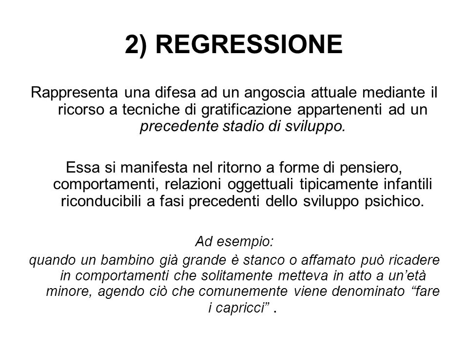 2) REGRESSIONE