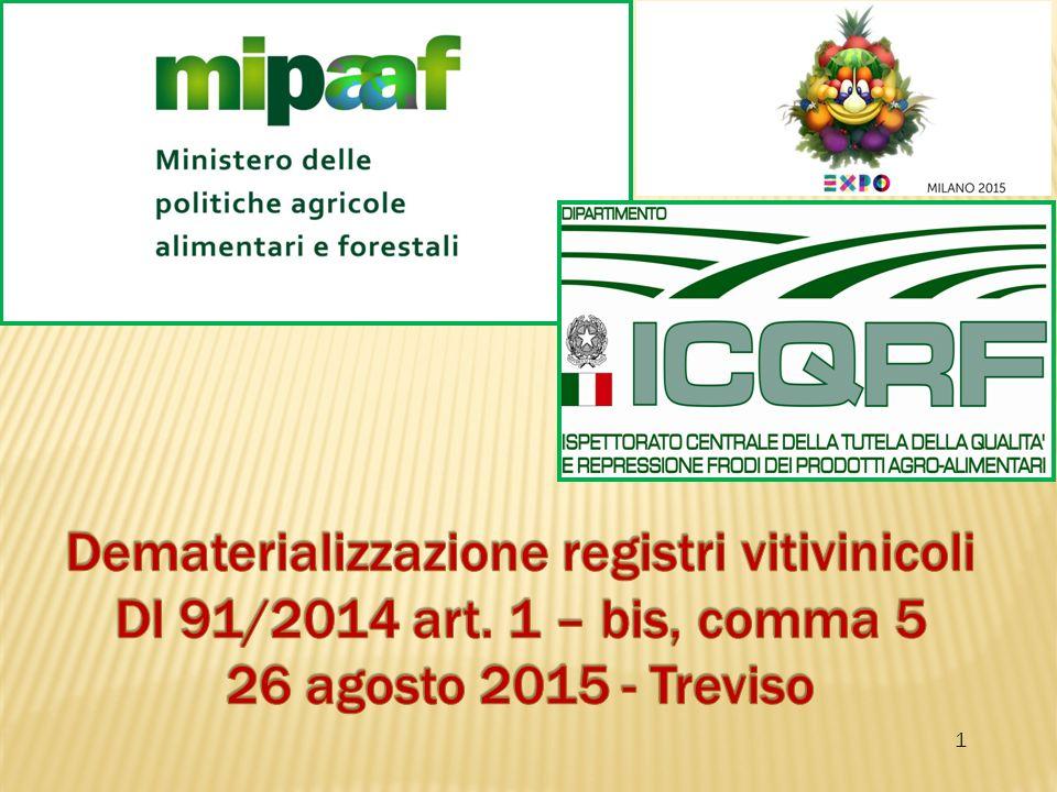 Dematerializzazione registri vitivinicoli