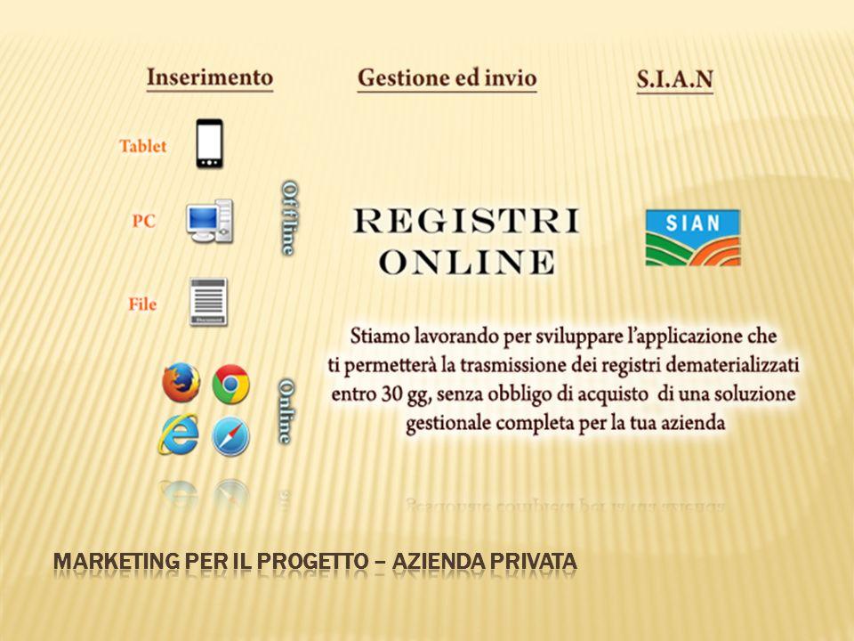 Marketing per il progetto – azienda privata