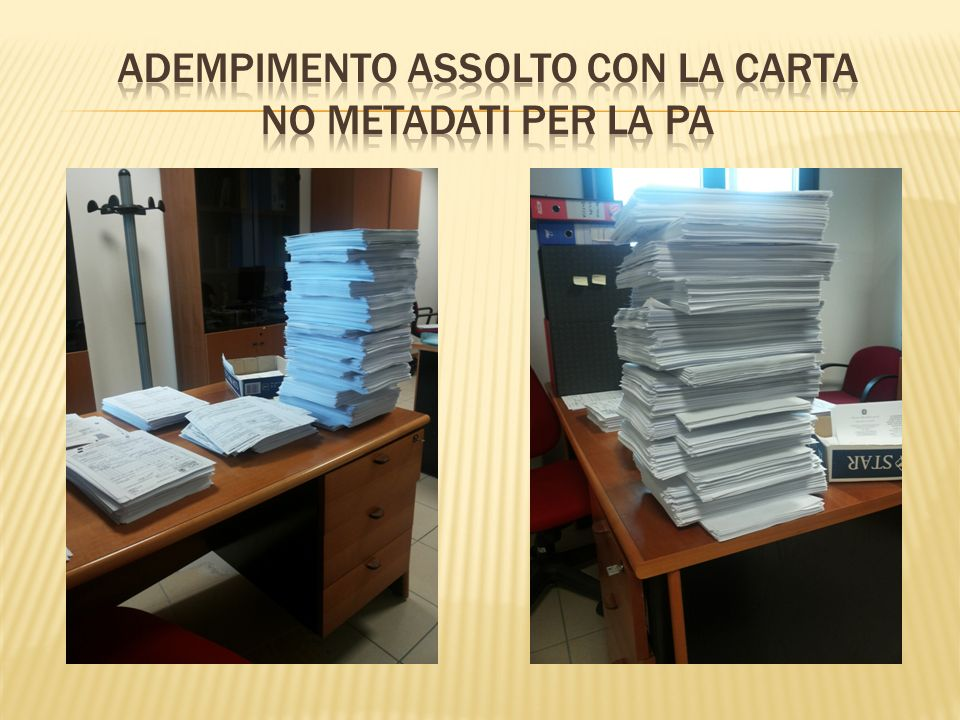 Adempimento assolto con la carta no metadati per la PA