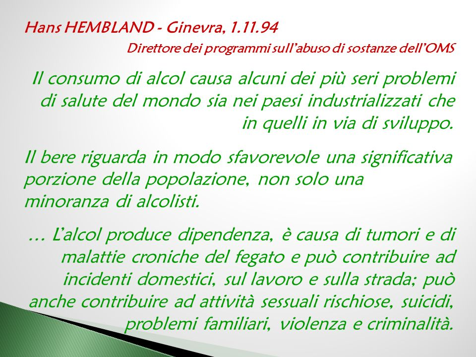 Hans HEMBLAND - Ginevra, 1.11.94