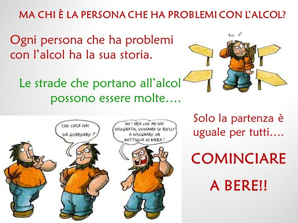 MA CHI È LA PERSONA CHE HA PROBLEMI CON L'ALCOL