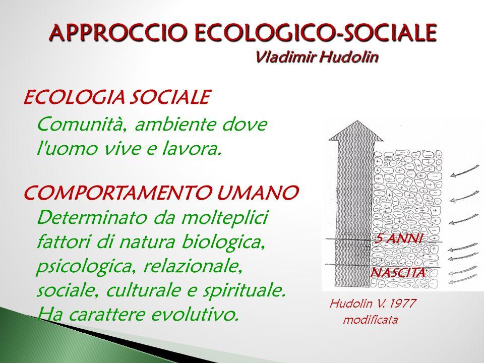 APPROCCIO ECOLOGICO-SOCIALE Vladimir Hudolin