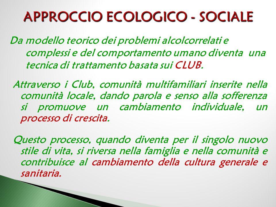 APPROCCIO ECOLOGICO - SOCIALE