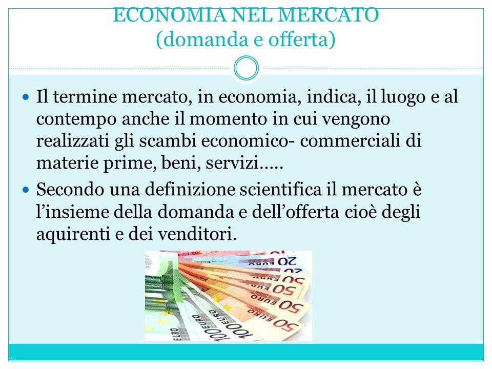ECONOMIA NEL MERCATO (domanda e offerta)
