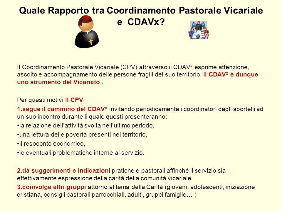 Quale Rapporto tra Coordinamento Pastorale Vicariale e CDAVx