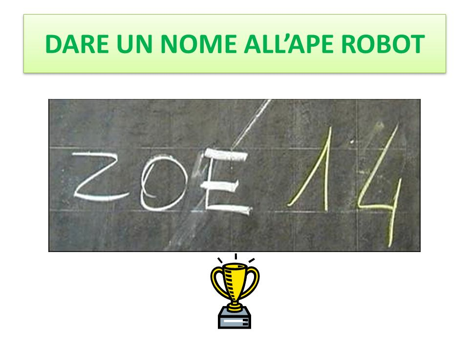 DARE UN NOME ALL'APE ROBOT