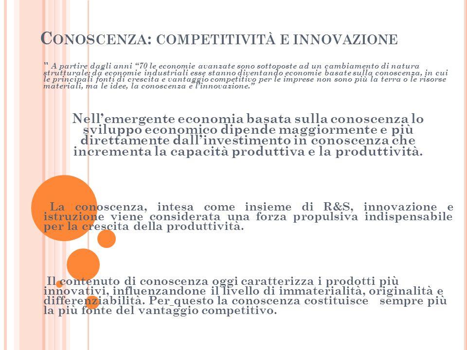 Conoscenza: competitività e innovazione