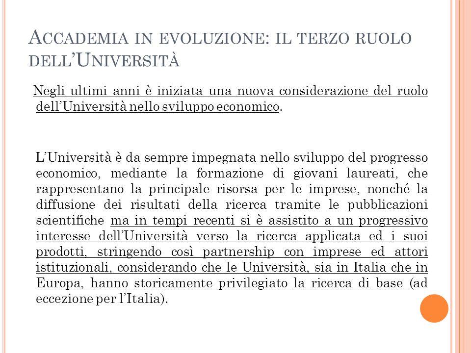 Accademia in evoluzione: il terzo ruolo dell'Università