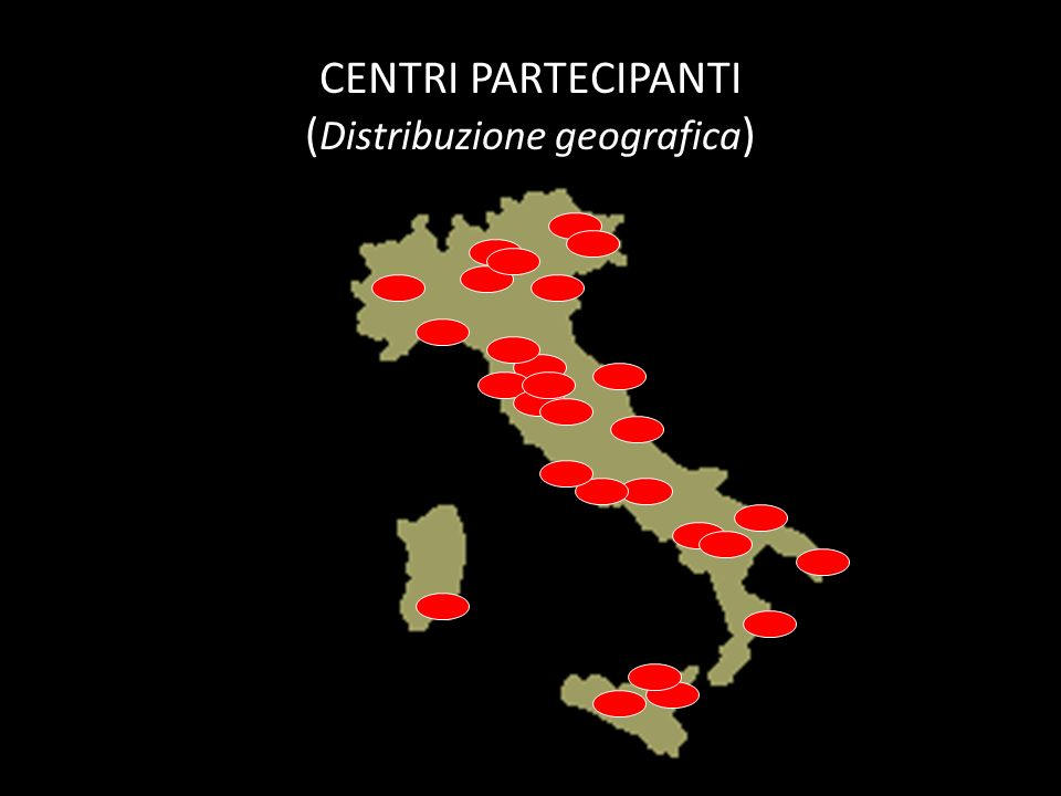 CENTRI PARTECIPANTI (Distribuzione geografica)