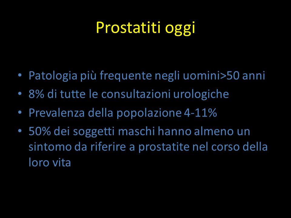 Prostatiti oggi Patologia più frequente negli uomini>50 anni
