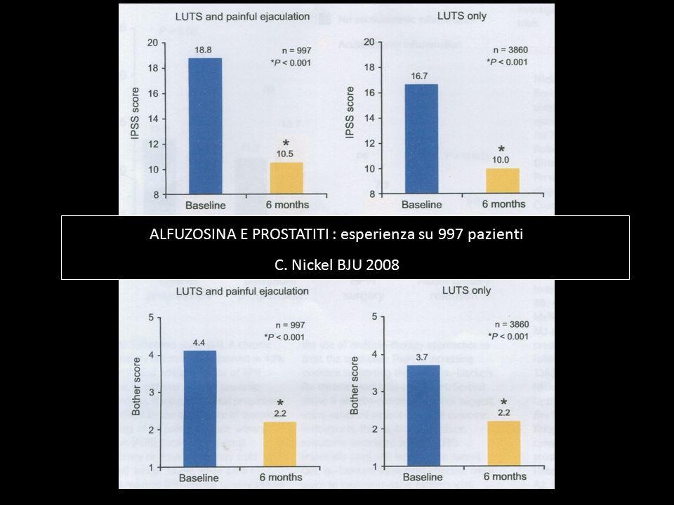 ALFUZOSINA E PROSTATITI : esperienza su 997 pazienti