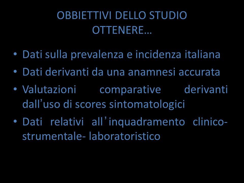 OBBIETTIVI DELLO STUDIO OTTENERE…