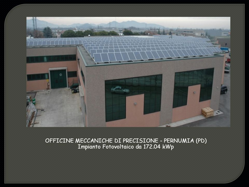 OFFICINE MECCANICHE DI PRECISIONE - PERNUMIA (PD)
