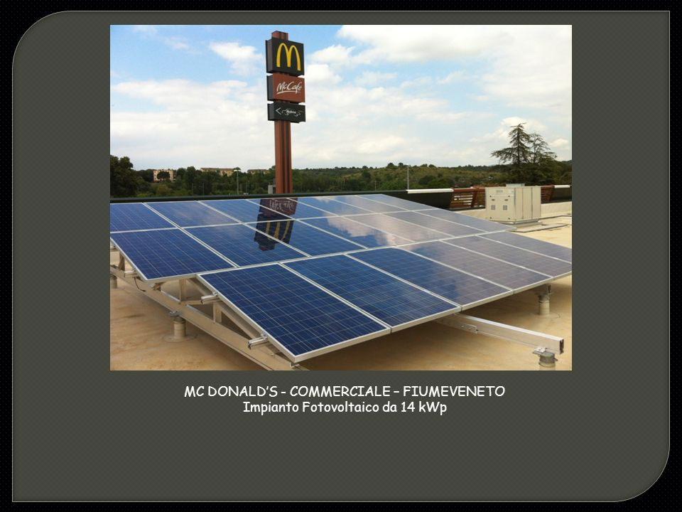 MC DONALD'S - COMMERCIALE – FIUMEVENETO