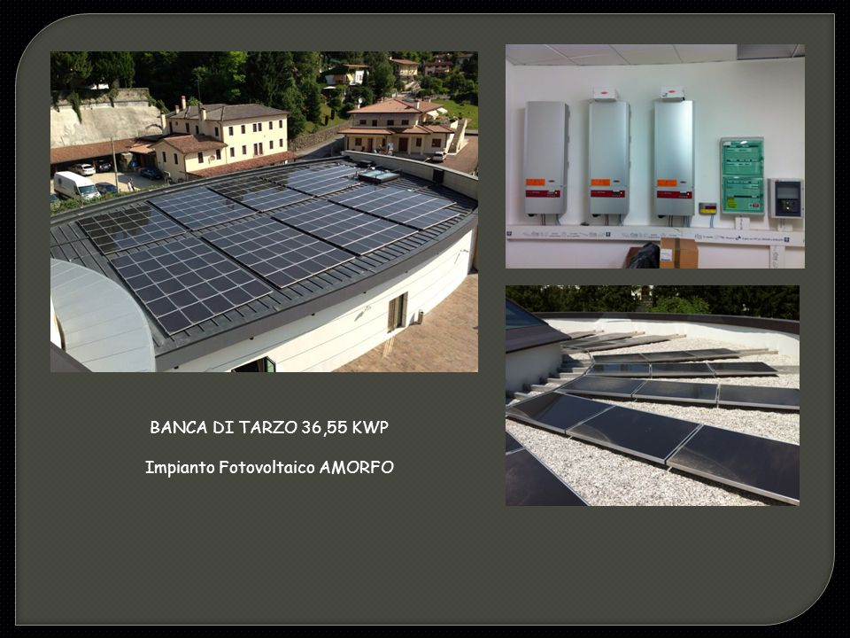 Impianto Fotovoltaico AMORFO