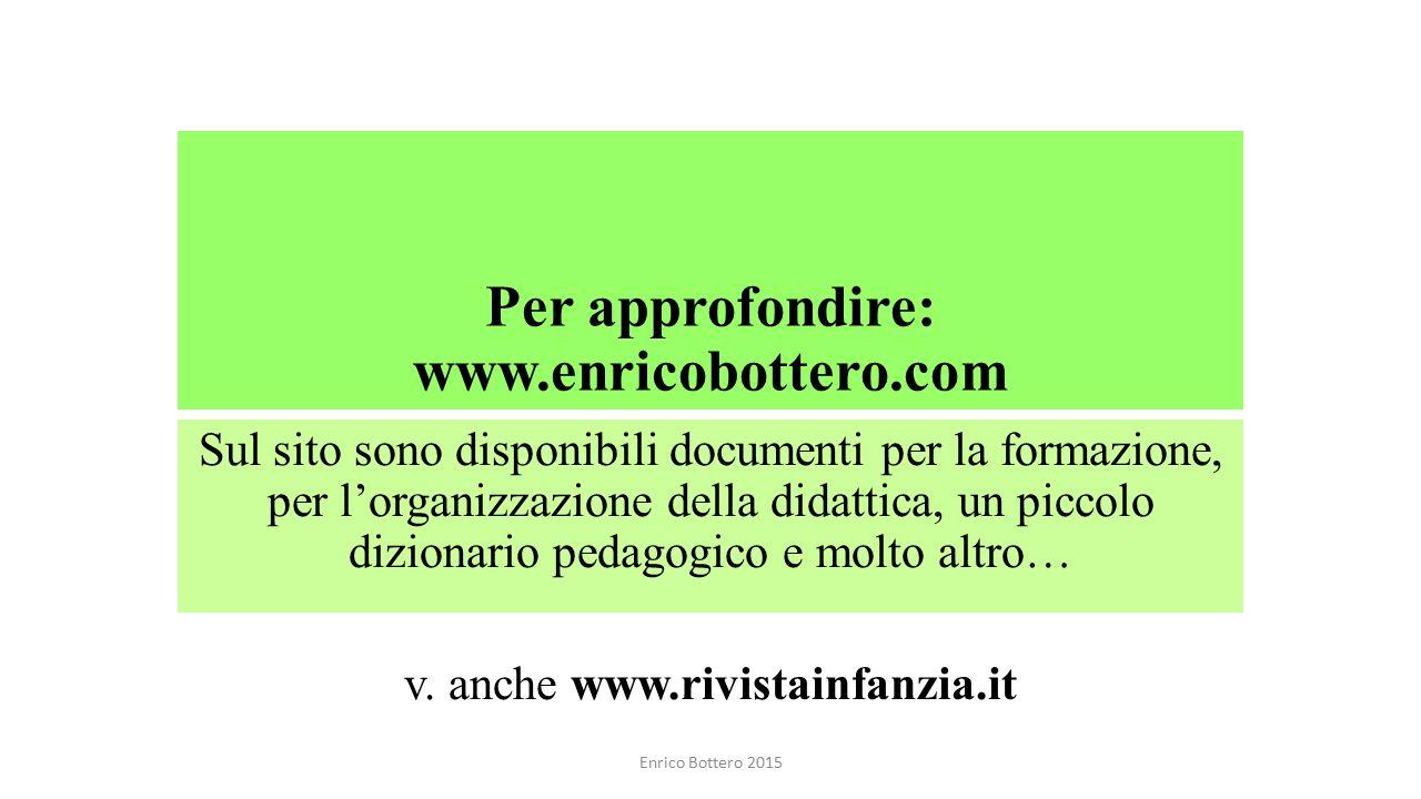 Per approfondire: www.enricobottero.com