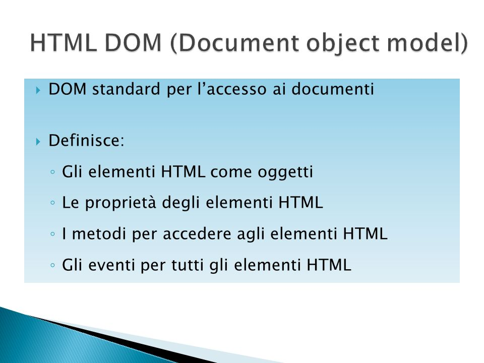 HTML DOM (Document object model)