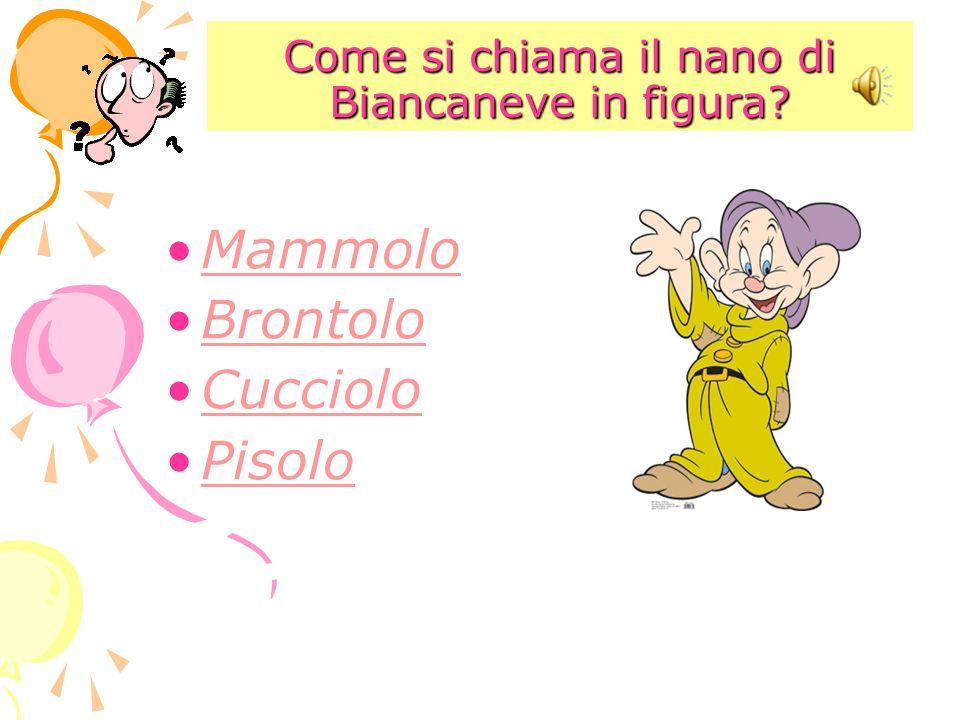 Come si chiama il nano di Biancaneve in figura