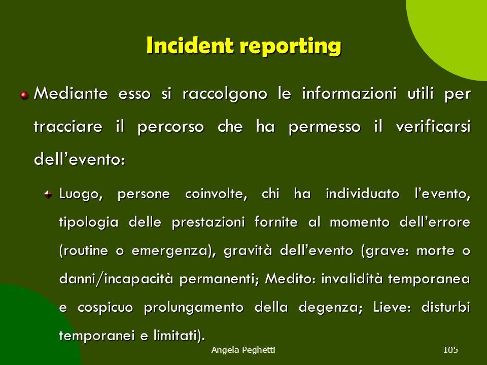Incident reporting Mediante esso si raccolgono le informazioni utili per tracciare il percorso che ha permesso il verificarsi dell'evento: