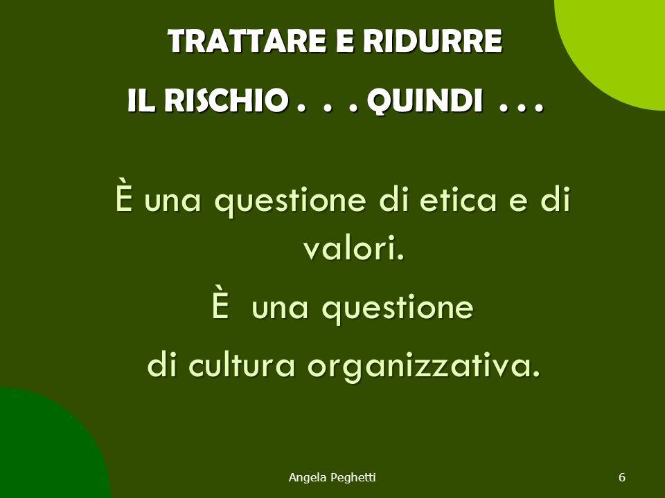 TRATTARE E RIDURRE IL RISCHIO . . . QUINDI . . .