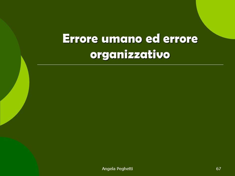 Errore umano ed errore organizzativo