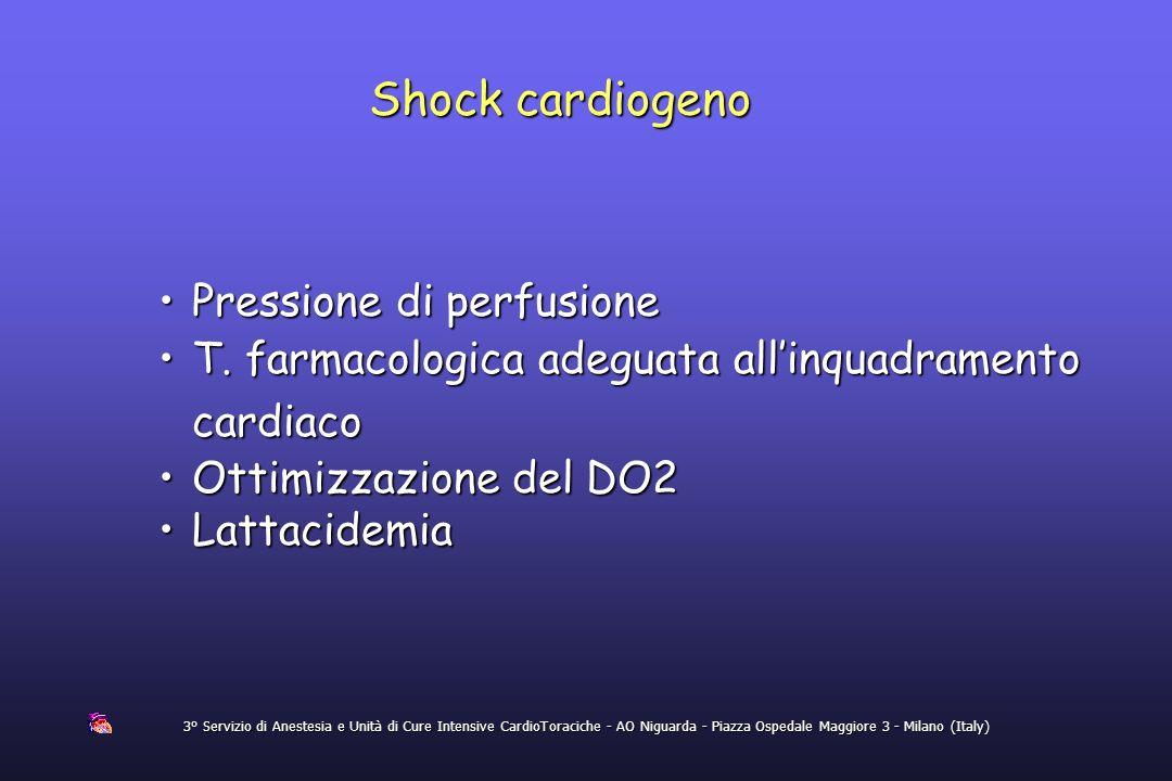 Shock cardiogeno Pressione di perfusione