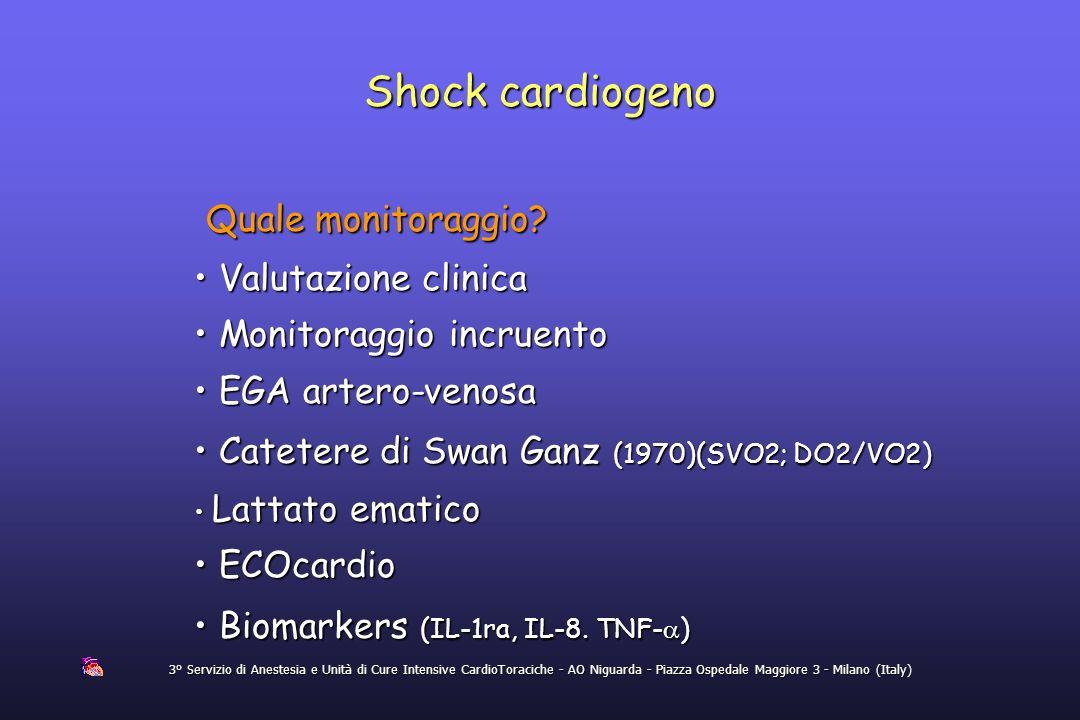Shock cardiogeno Quale monitoraggio Valutazione clinica