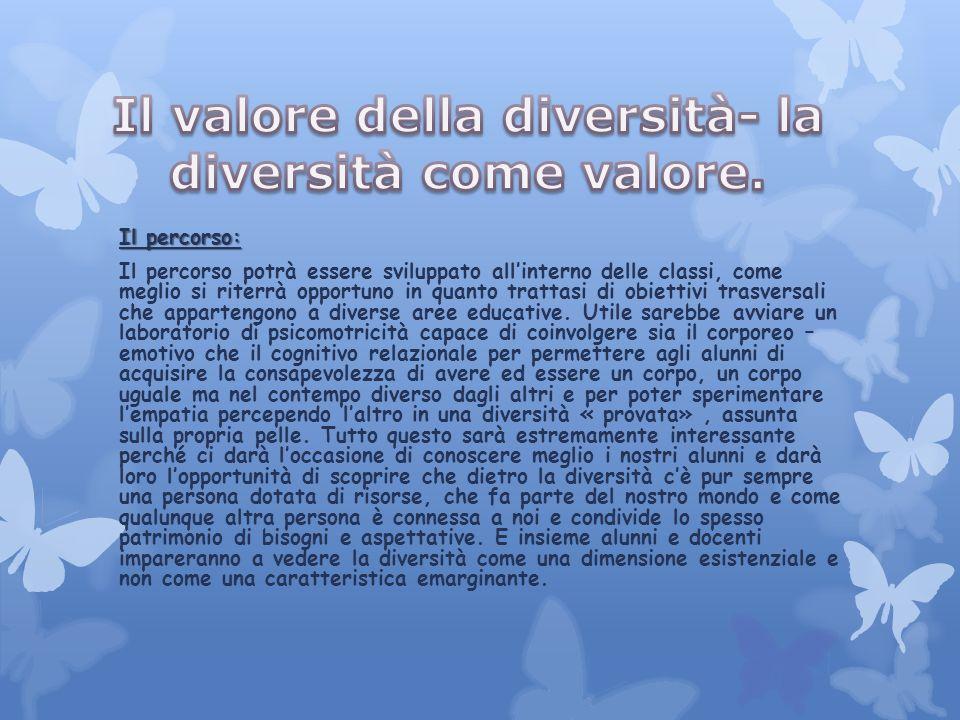 Il valore della diversità- la diversità come valore.