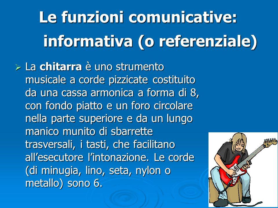 Le funzioni comunicative: