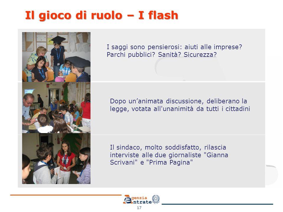 Il gioco di ruolo – I flash