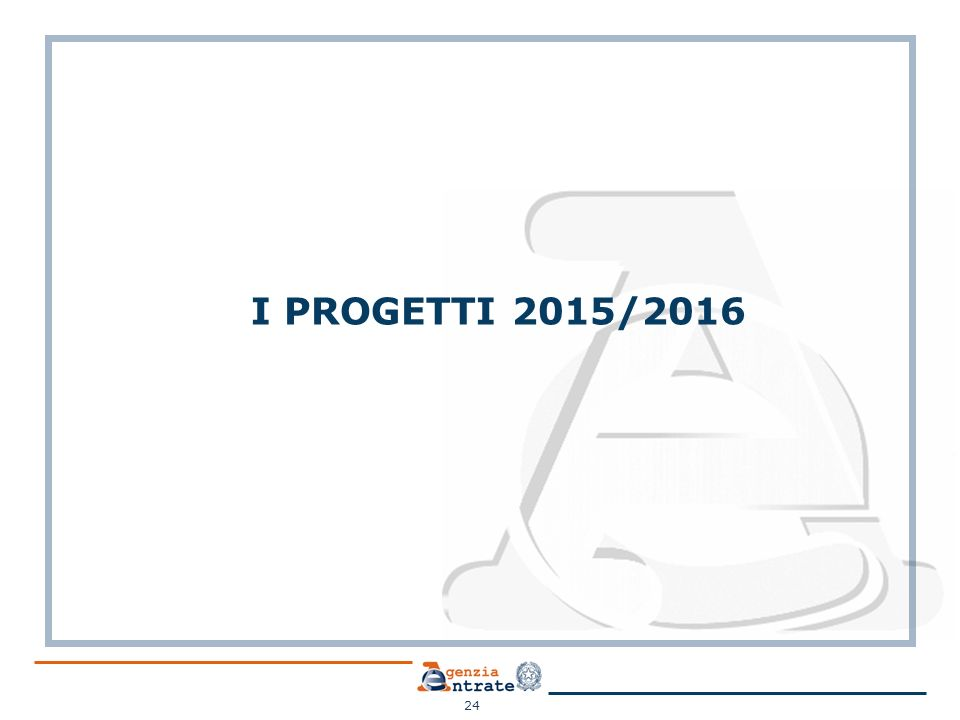 I PROGETTI 2015/2016