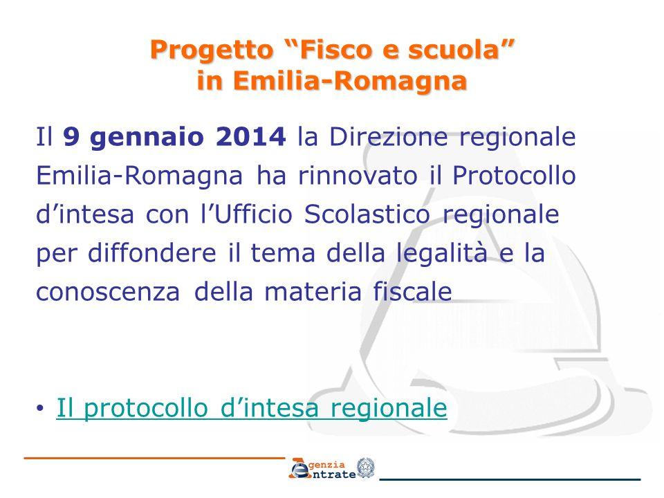 Progetto Fisco e scuola in Emilia-Romagna