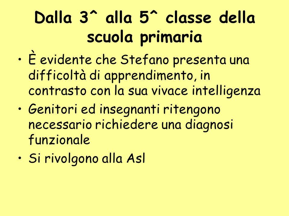 Dalla 3^ alla 5^ classe della scuola primaria