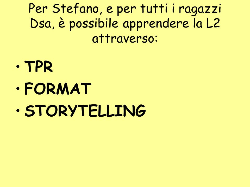 TPR FORMAT STORYTELLING