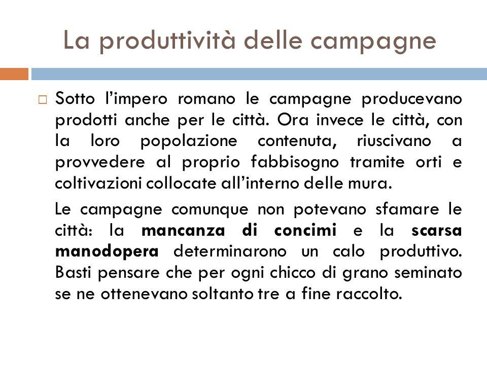 La produttività delle campagne