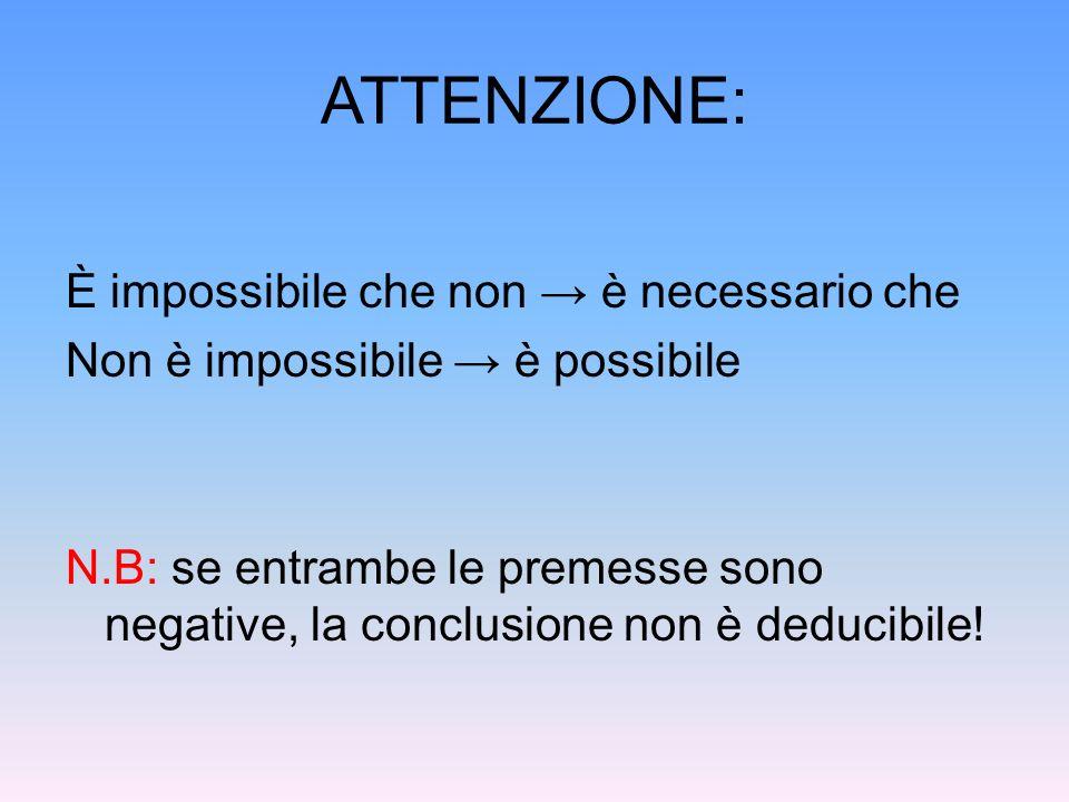 ATTENZIONE: È impossibile che non → è necessario che
