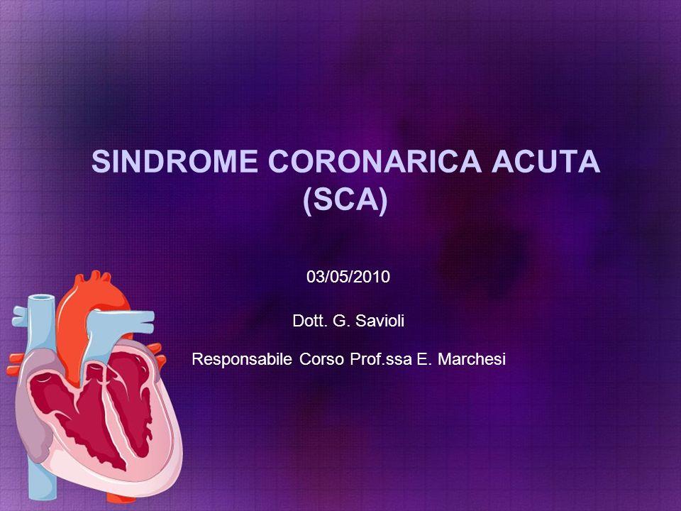 SINDROME CORONARICA ACUTA (SCA)